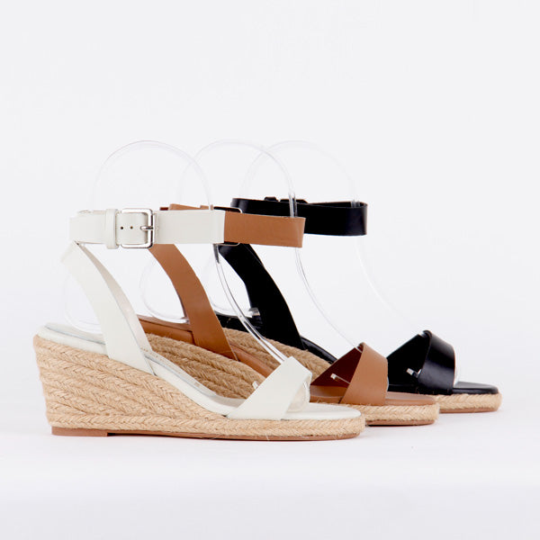 832f30a8d8d1 small size for petite ladies leather hand made super espadrilles mid heels  wedge sandals constance