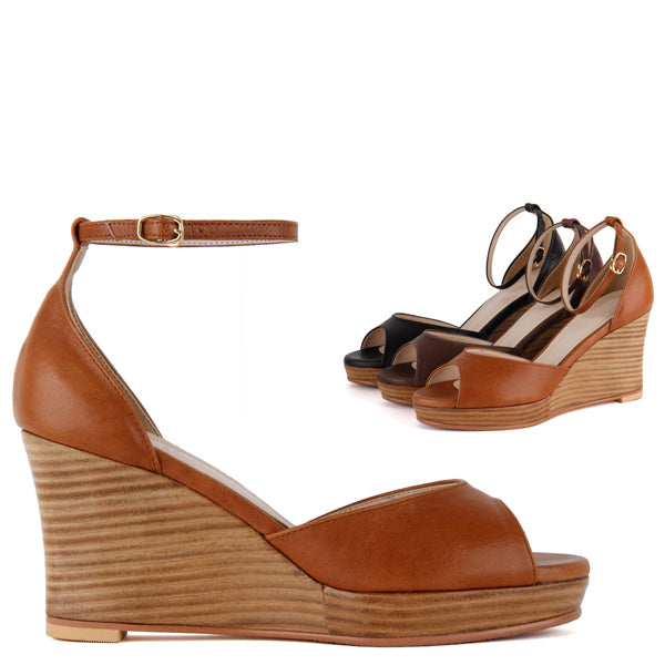 *BAKU - wedge, brown, size UK 3