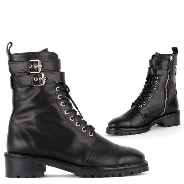 Size Tough Girl Army Style Ankle Boots