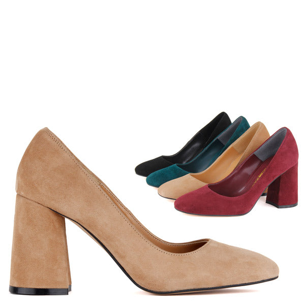 3ed07ee8b49 Petite Size Classic Colours Suede 8cm Mid Heel Busan by Pretty Small Shoes