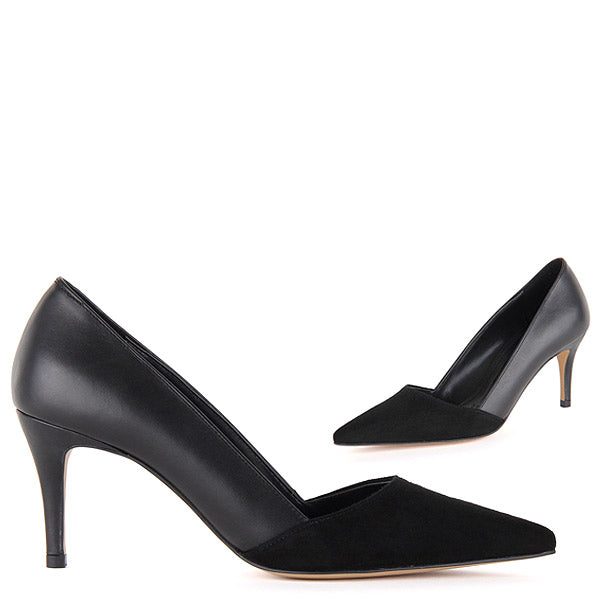 61614637d36 Small Size Classic Black Mid-Heel Pumps Jeenoo by Pretty Small Shoes