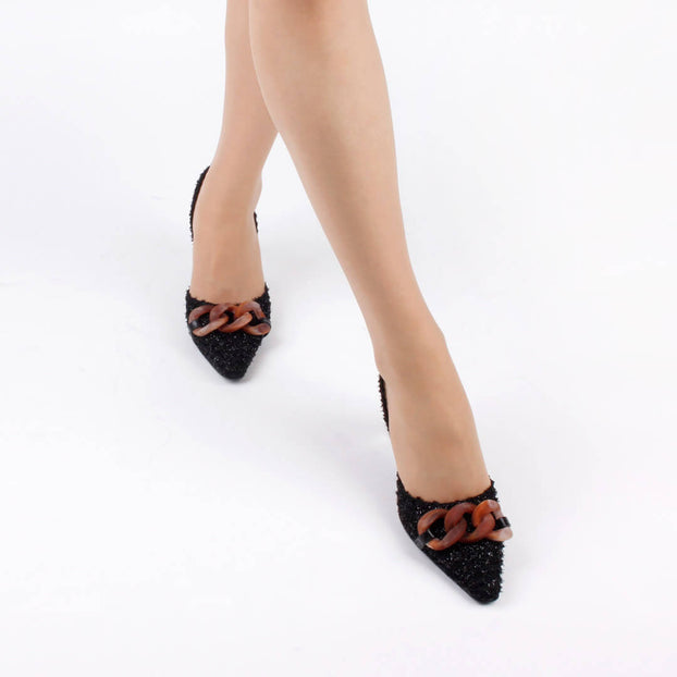 *CLARA - black, 7cm, size UK 2.5