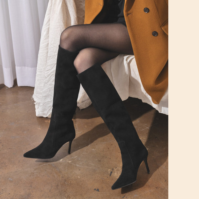 WOLLEN - suede long boots