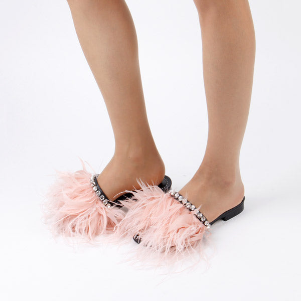 *TAZO - black blue feathers - red heel (no pic) , 1.5cm size UK 2