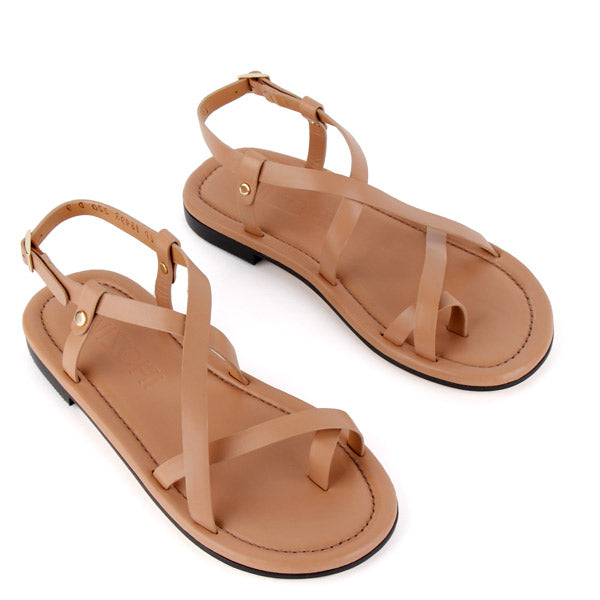 4cb24c33adf73 Petite Tan Open Toe Sandals by MIZCHI Pretty Small Shoes
