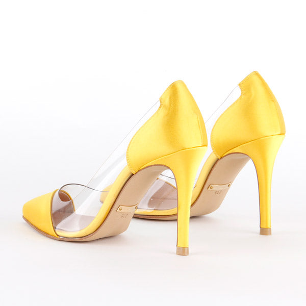 *D EDGE - silk, yellow, 9cm, size 34 - final sale (worn in photosoot)
