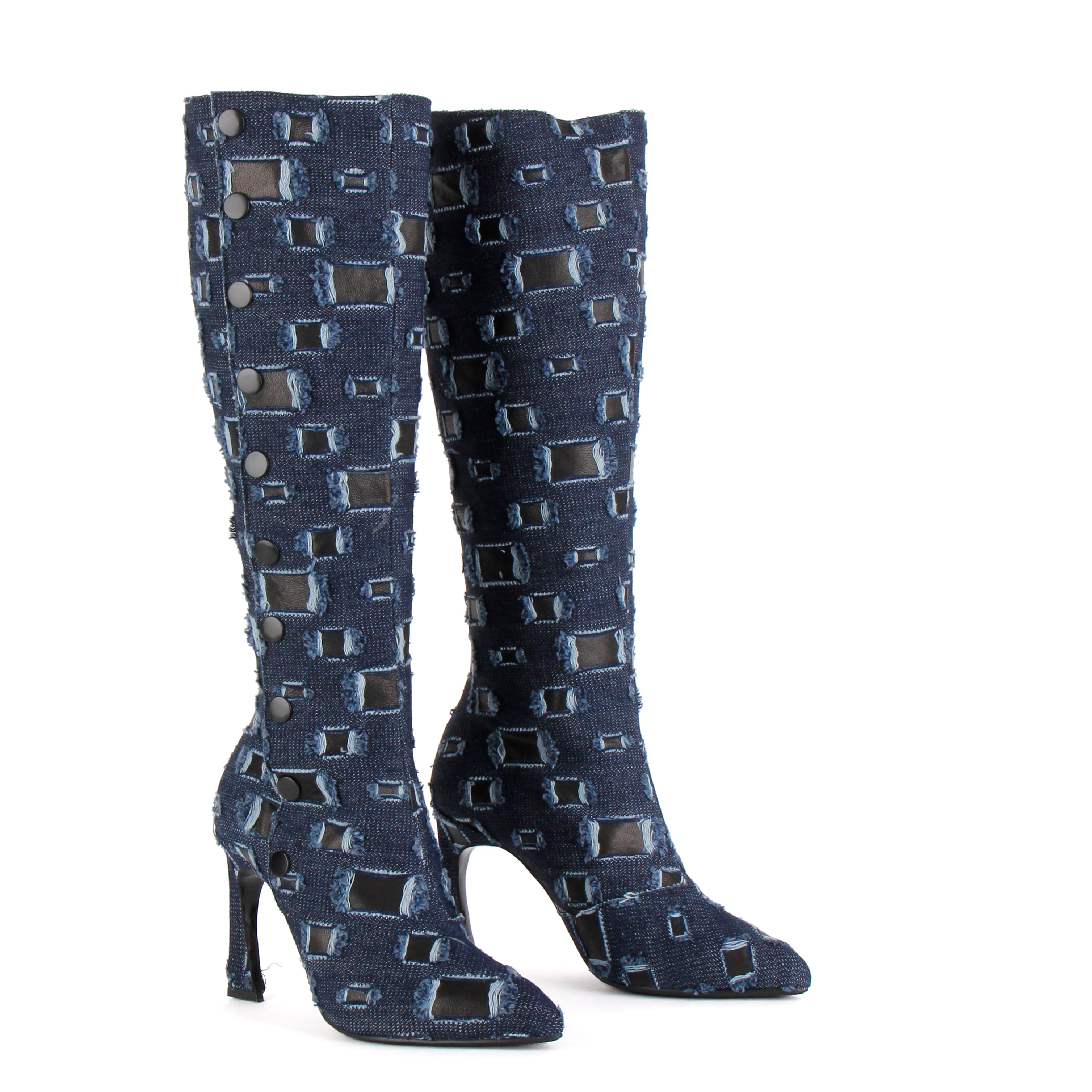 *ALLEGRA - denim, 9cm size UK 2.5