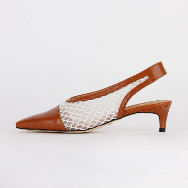 *NURIA - brown, 4cm size UK 3