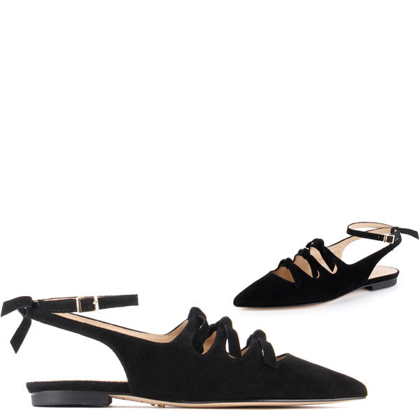 *RITA - flat, black, 1cm, size UK 2.5
