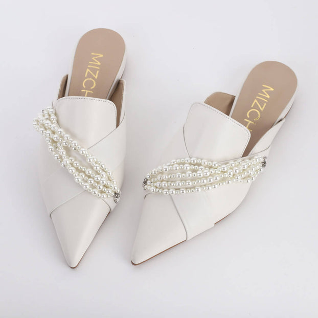 MARGARET - pearl slippers
