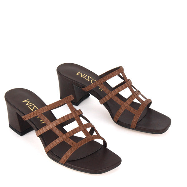 fc429c9892b2d Petite Size Brown Strappy Sandals by MIZCHI Pretty Small Shoes