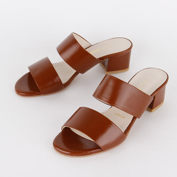 *TWO STEP - brown leather, 4cm size UK 2.5