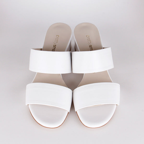 *TWO STEP - white leather, 4cm size UK 2.5