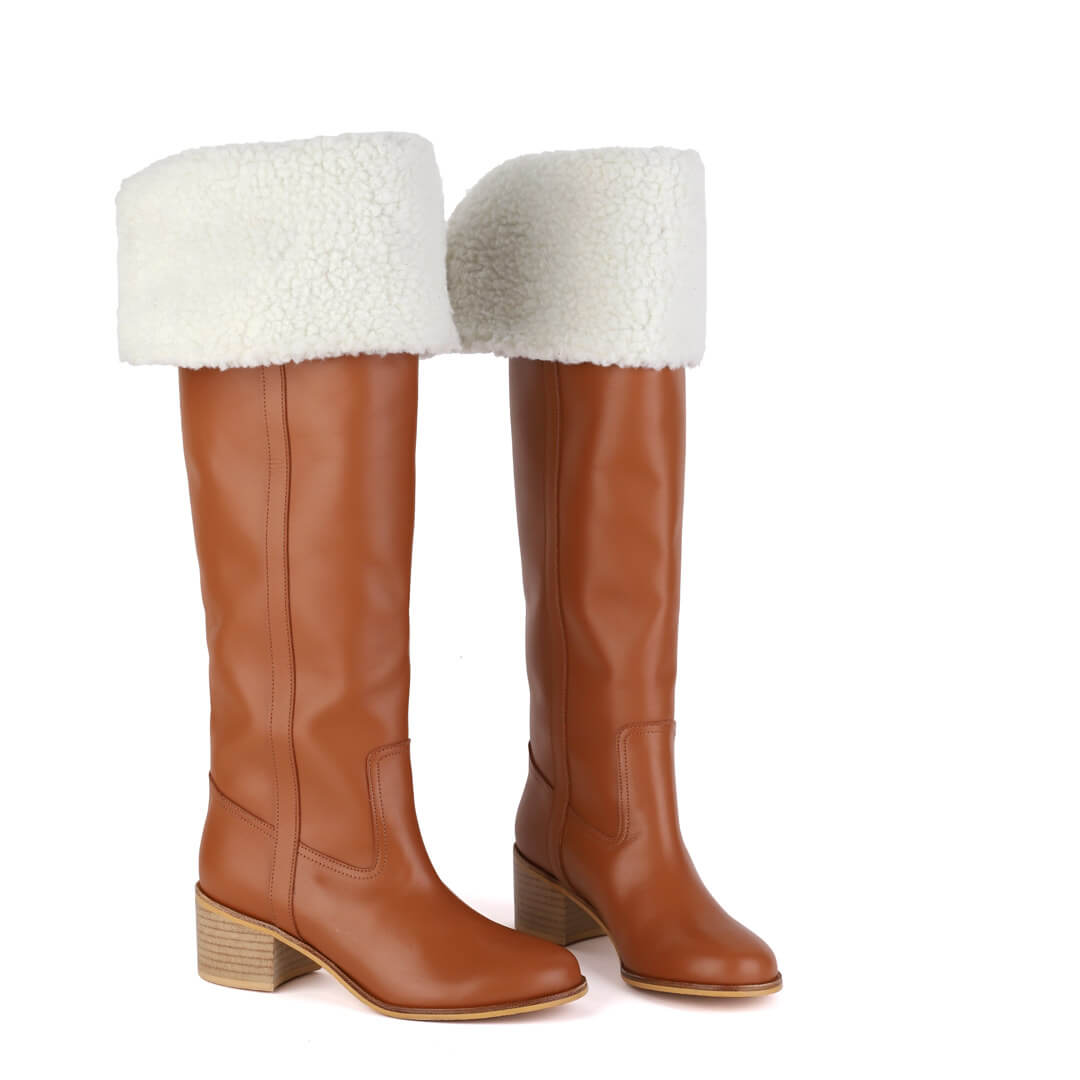 ZEETA camel - knee boot