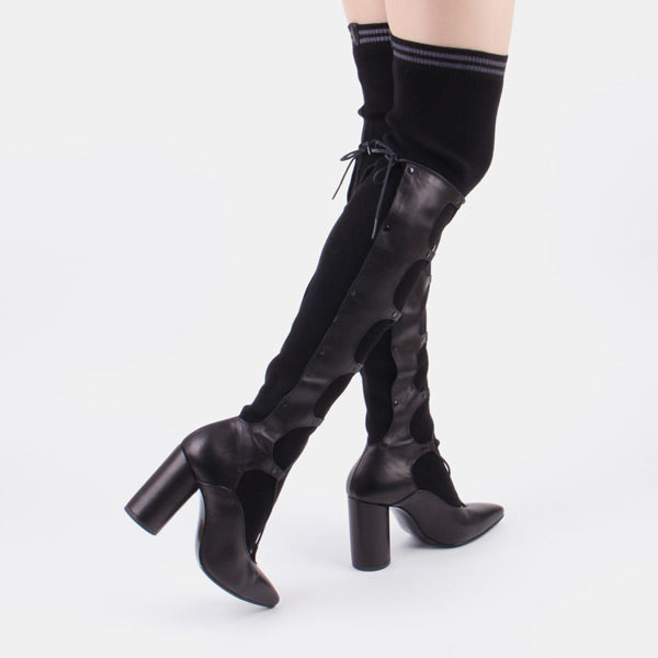 OVIDIA - over knee sock boot