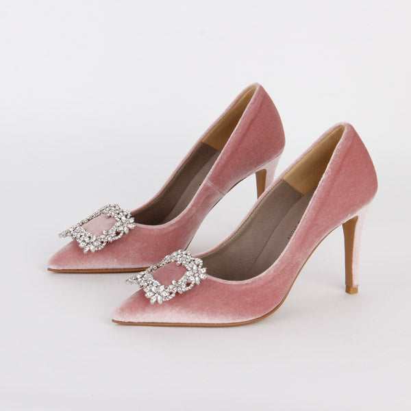 *TRUE VELVET - pink, 9cm, size UK 2.5