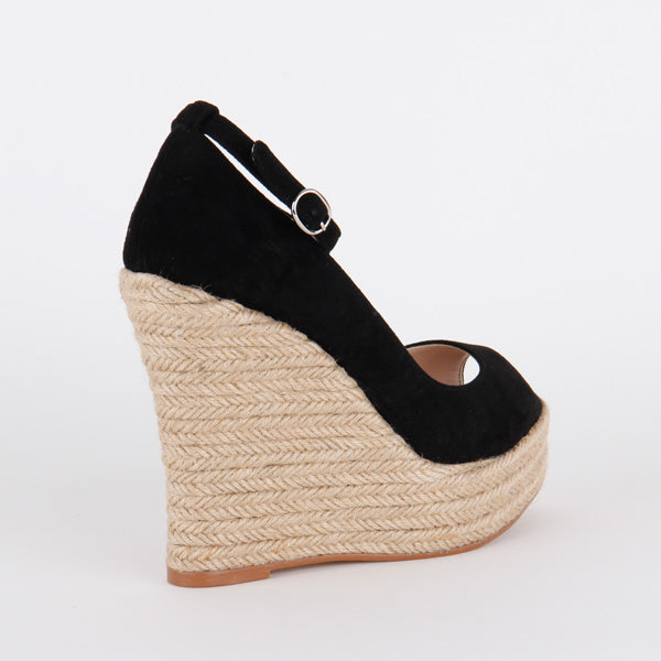 *MARRISA - black wedge