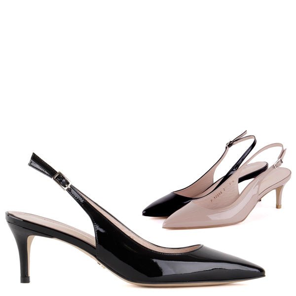 0e1340972c18 Petite Size Elegant 6cm Mid Heel Slingback Black Or Pink Gia by ...