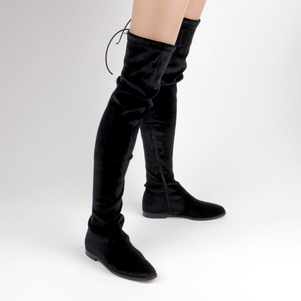 GATTAVE - velvet over knee boot