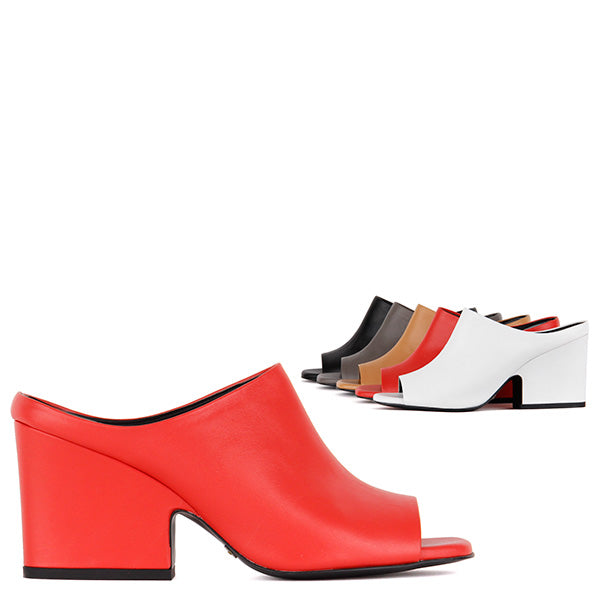8b8b7fc229a Small Size Block Heel Mules in Multi Colour Options by Pretty Small Shoes