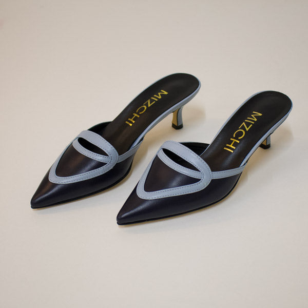 *RIVA (no slingback), Navy, 5cm, size UK 1