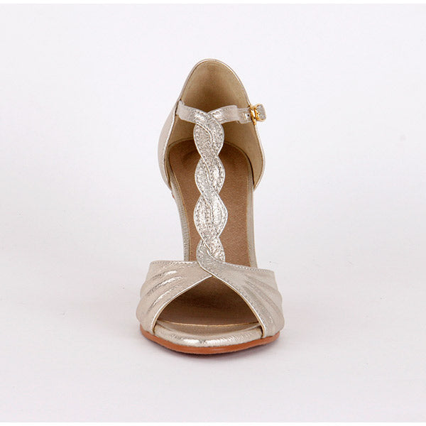 * SALSA - gold, 9cm size UK 2.5