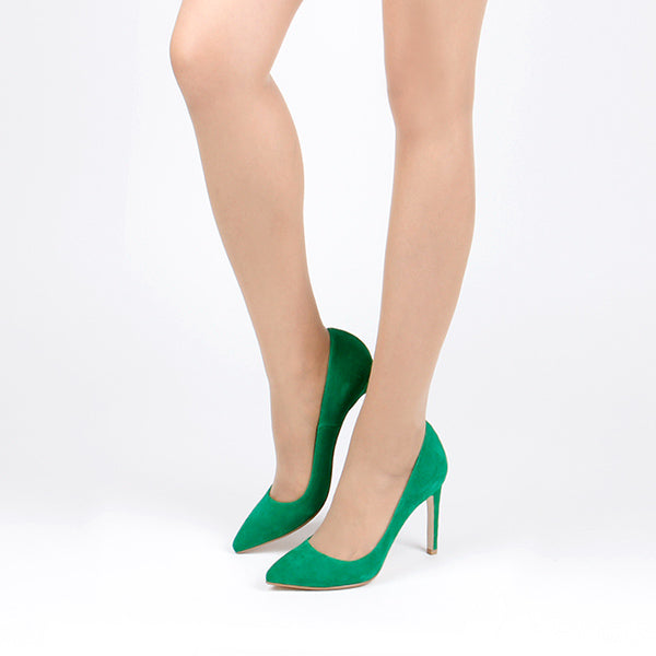 TREAT - green suede