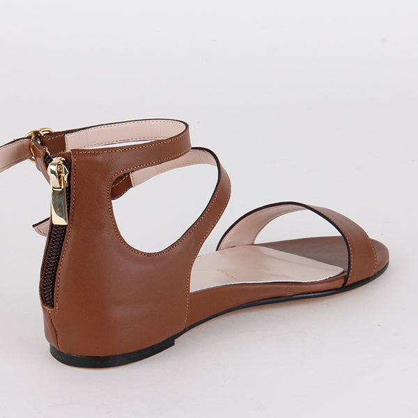 *PIPER - brown, 2cm wedge, size UK 3