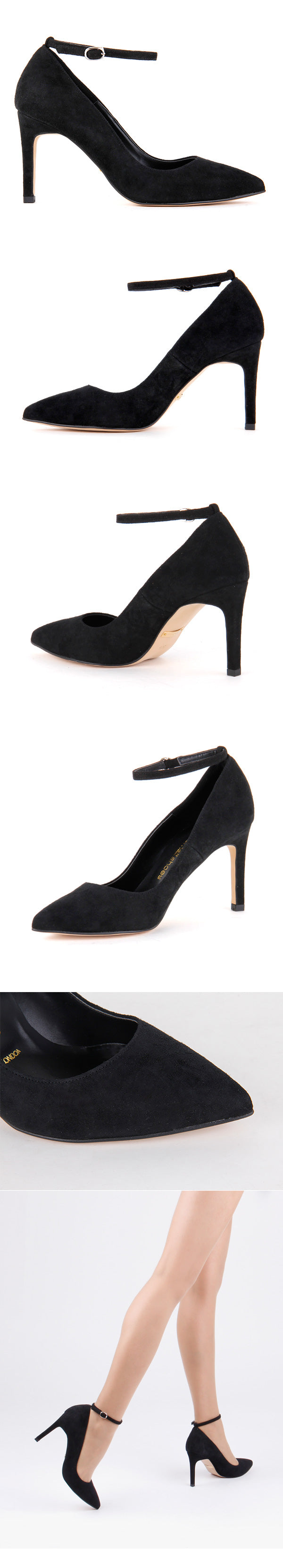 *ELLA - ankle strap, black, 9cm size UK 2