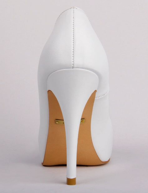 RSVP - White Leather