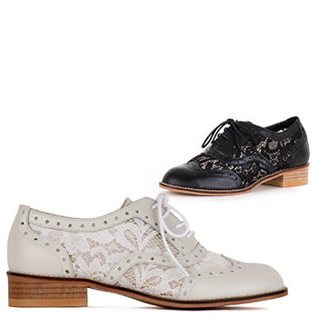 *LACE BRO, Ivory, size UK 2.5