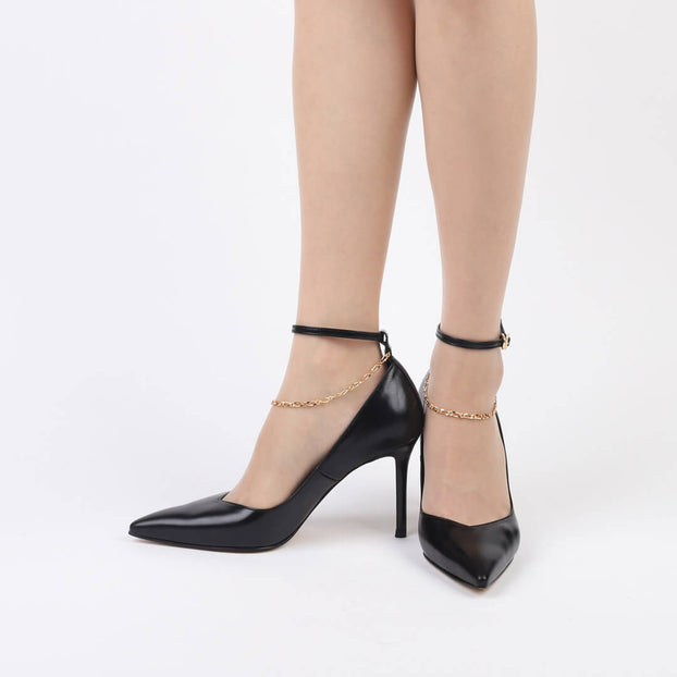 JEWELL - ankle chain heel