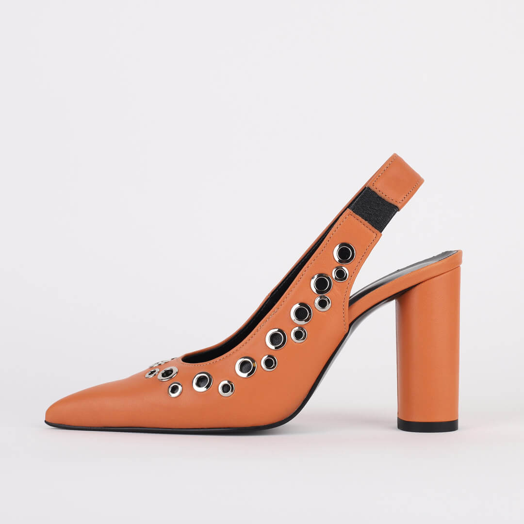 *CHARLEE - orange, 9cm size UK 2.5