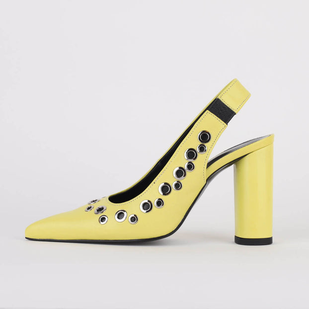 *CHARLEE - yellow, 9cm size UK 2