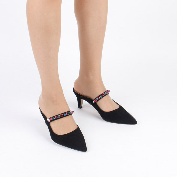 *MINTOFF, black, 6cm, size UK 2.5
