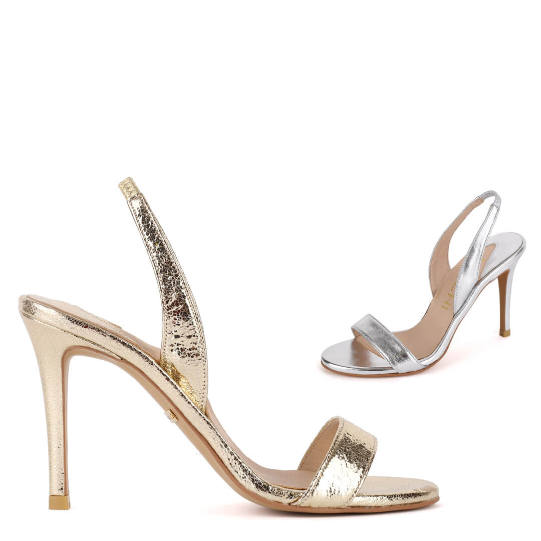 MADRID METALLIC- high sandal