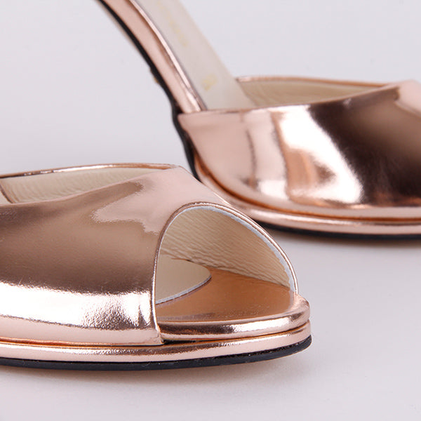 *CORSO - metallic rose gold, 9cm, size UK 2.5