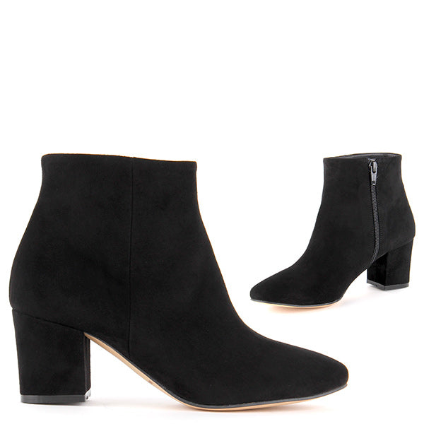 cadfa692d241 Small Size Low Price Suede Leather Ankle Boots - ZEE black suede by Pretty  Small Shoes