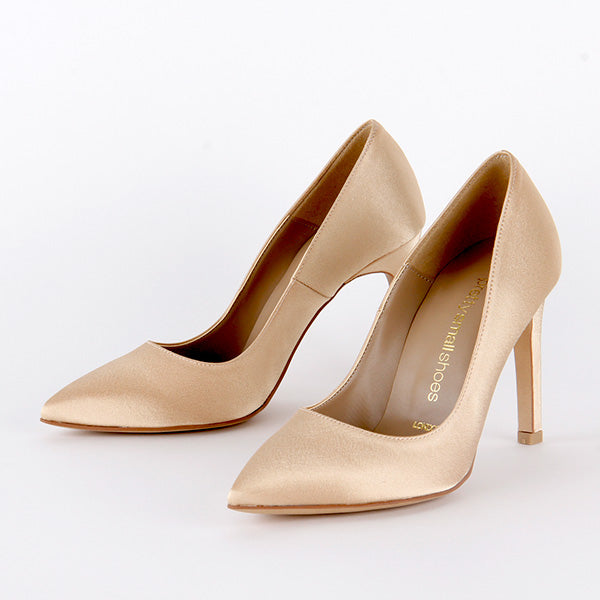 *TIPO - gold satin, 9cm size UK 2.5