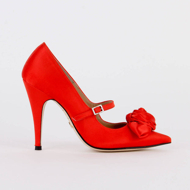 *ROSSA - red, 10cm, size UK 2