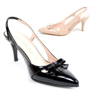 *PURE, black patent, 5cm, size UK 2.5