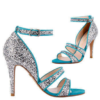4bd86ab43a9 small size ladies sparkly evening high heel sandal glitter in the dark