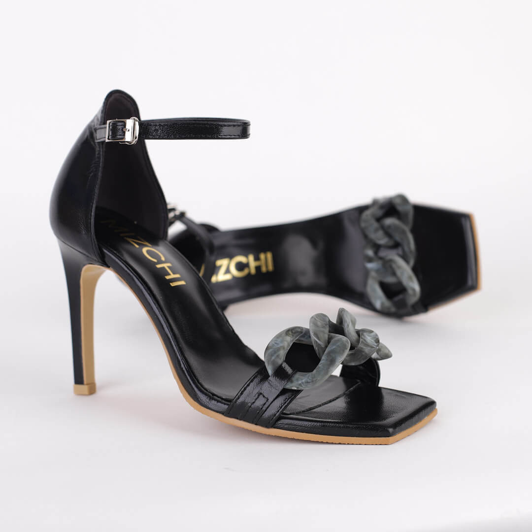 *REBEKAH - black, 9cm size UK 2.5