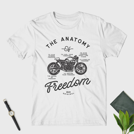 Funny Biker Shirt - The Anatomy Of Freedom Unisex T-Shirt - Motorcycle - Motorbike - Vintage - Christmas gift - vintage biker shirt
