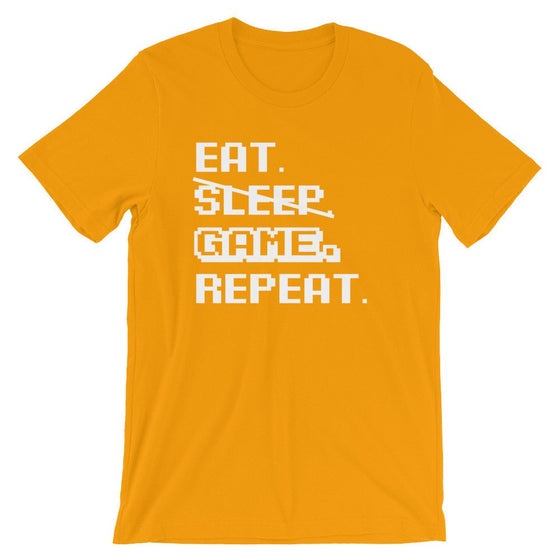 Eat Sleep Game Repeat Unisex T-Shirt videogame gift - videogame tshirt - video game nerd gift - videogame tshirts - geeky gift