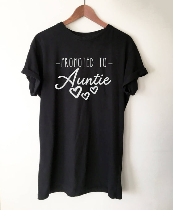 Promoted To Auntie T-Shirt - Auntie shirt, Pregnancy Announcement Shirt, Pregnancy Reveal To Sister, Aunt Shirts, Aunt Gift, New Aunt Shirt