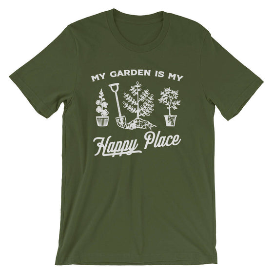 My Garden Is My Happy Place Unisex Shirt - Gardening Shirt - Gardener Gift - Plant Shirt - Funny Sayings - Novelty Gift - Graphic T-Shirt
