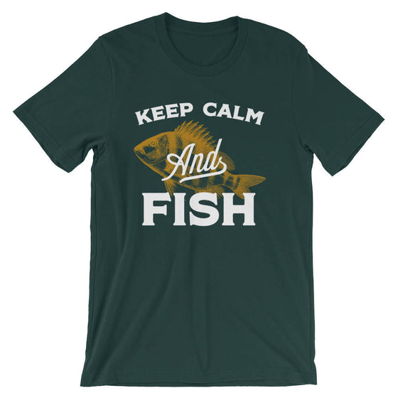 Keep Calm And Fish Unisex T-Shirt | Fishing Gift | Fisherman | Fisherman shirt | fishing gifts | funny fishing shirt | Fly Fishing