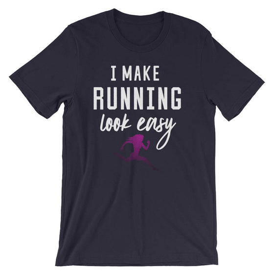 I Make Running Look Easy Unisex Shirt - Running shirt, Marathon shirt, Funny running shirt, Running gifts, Marathon shirts , Half marathon