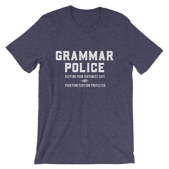 Grammar Police Unisex Shirt - Book lover t shirts - Book lover gift - Bookworm gift - Bibliophile - Grammar Vocabulary Punctuation